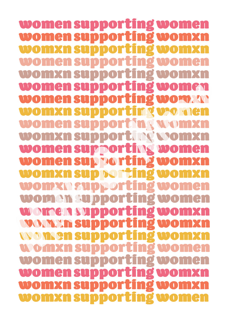women supporting womxn feminist art print by milk and moon