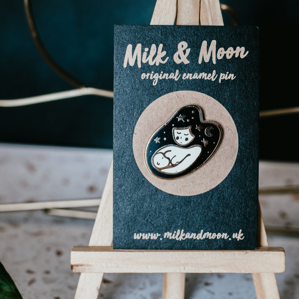 Milk & Moon Breastfeeding pin badge