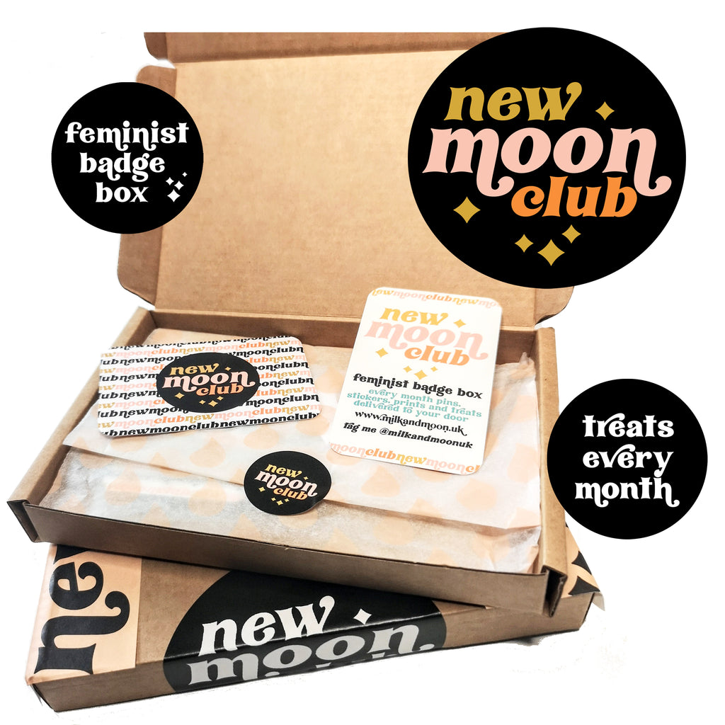 New moon club feminist pin gift box