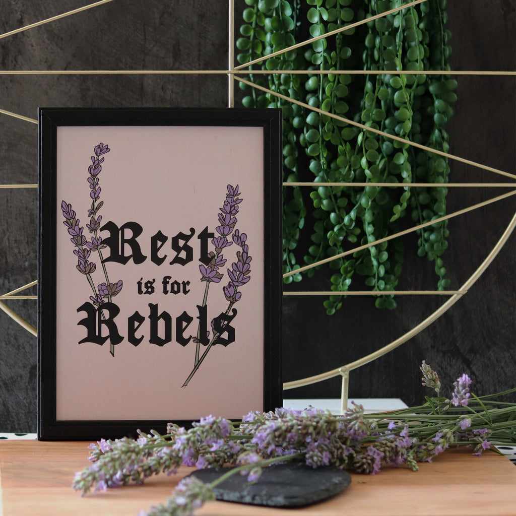 rest is for rebels print