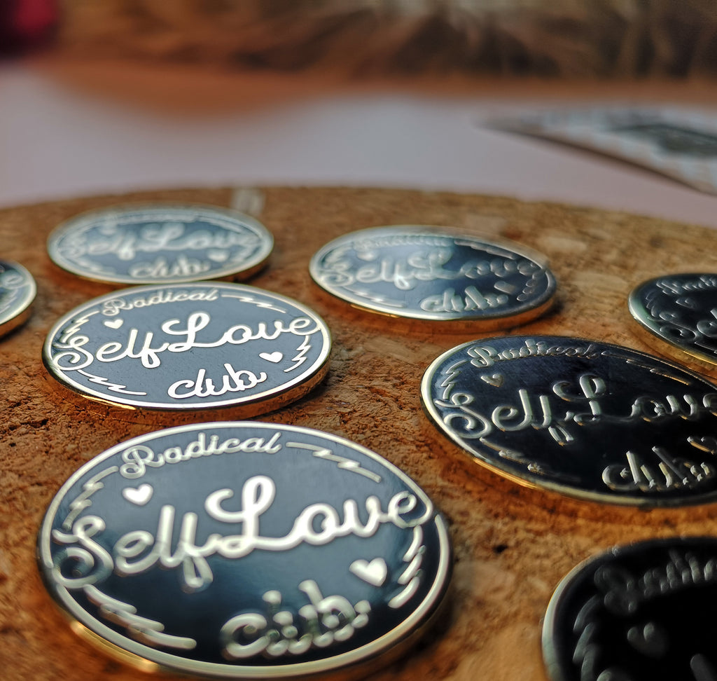 self love club enamel pin badge