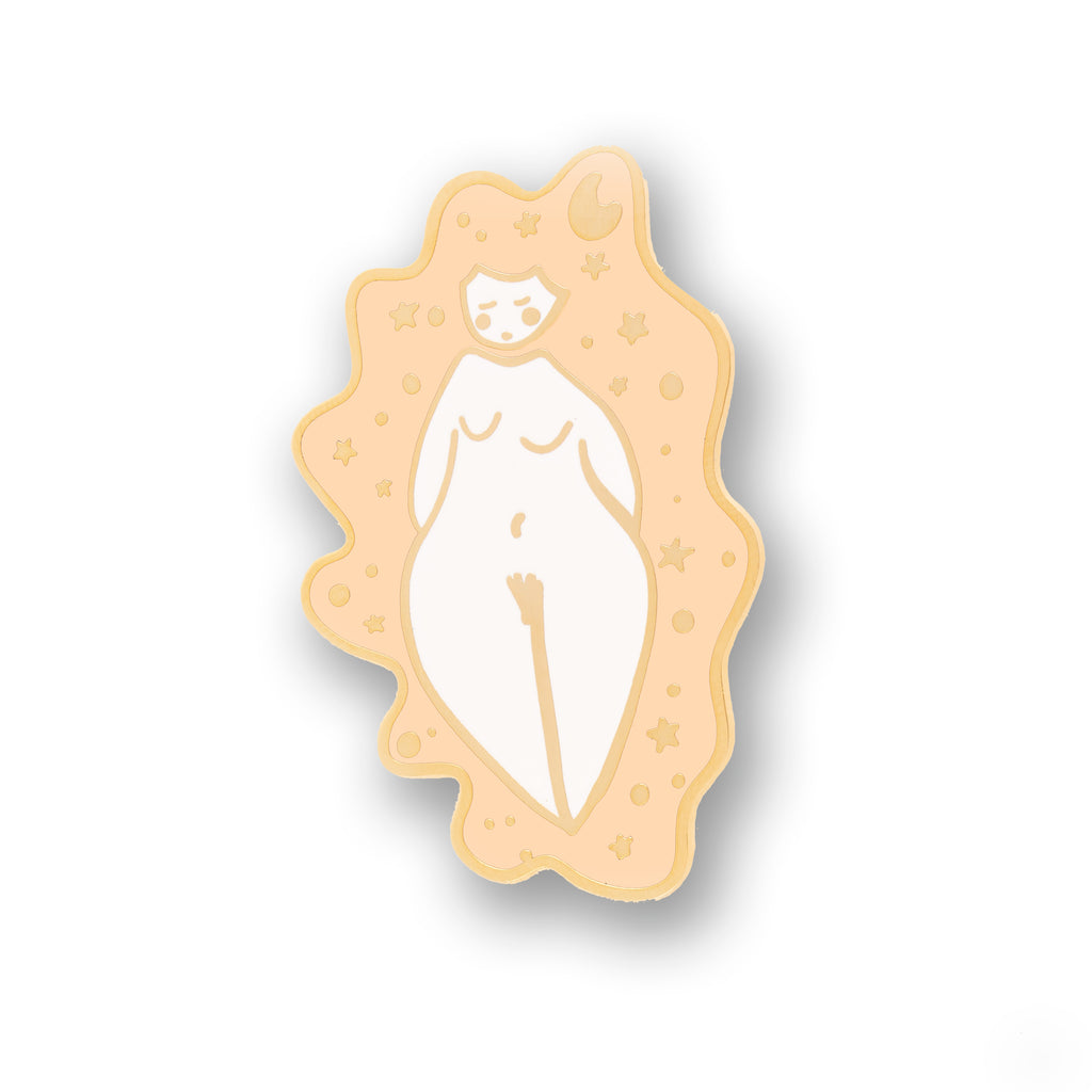 dreamy space lady badge