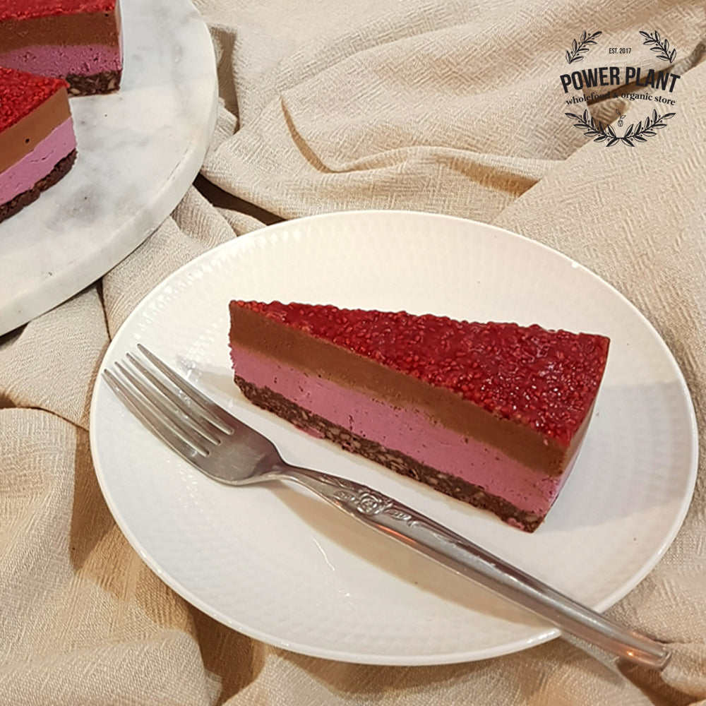 RAW CHEESECAKE SLICE - CHOCOLATE RASPBERRY JELLYTIP