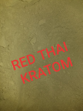 RED THAI Kratom powdered leaves fresh and strong Mitragyna Speciosa