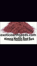 Load image into Gallery viewer, MIMOSA HOSTILIS POWDERED root Bark clothing dye powder MHRB JUREMA Tenuiflora BRAZILIAN BARK