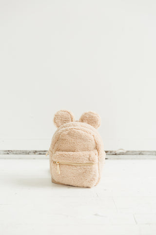 Mouse House Mini Backpack in Beige
