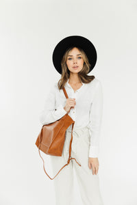 Cambridge Minimal Leather Tote