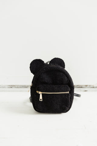 Mouse House Mini Backpack in Black