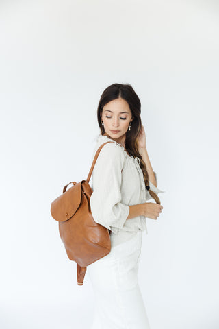 Jordaan Minimalist Leather Day Pack in Tan