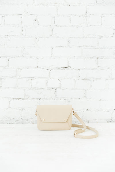 Beige Louvre Pebbled Leather Convertible Crossbody/Clutch