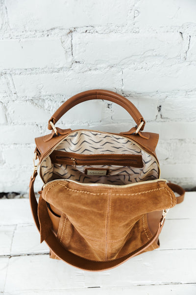 Cairo Convertible Leather Backpack
