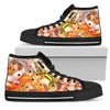 BP001 Leopard Gecko Art High Top Canvas Shoes - Exotic Animal Art | Ink Snow Flying