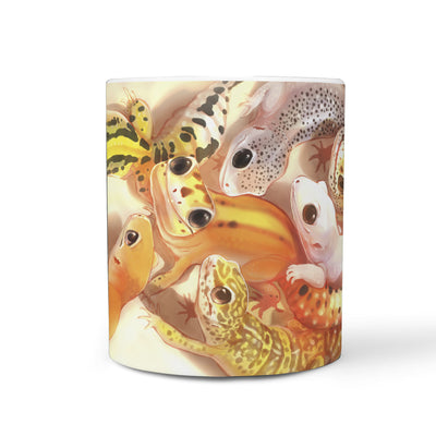 BP001 Leopard Gecko Art Mug Cup - Exotic Animal Art | Ink Snow Flying