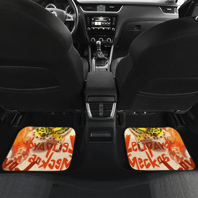 BP001 Leopard Gecko Art Front And Back Car Mats (Set Of 4) - Exotic Animal Art | Ink Snow Flying