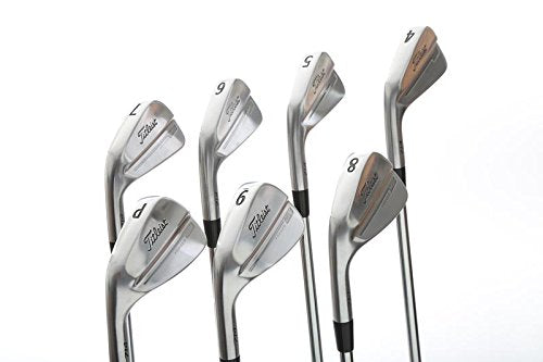 Mint Titleist 714 MB Iron Set 4-PW True Temper Dynamic Gold S300 Steel Stiff Left Handed 38 in
