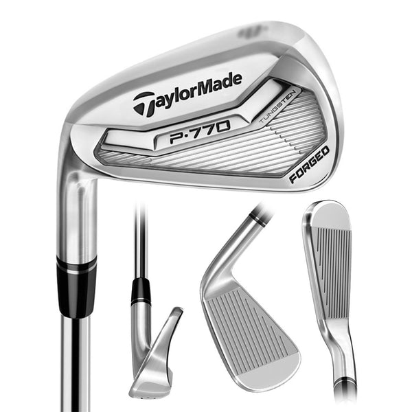 TaylorMade Golf- LH 2017 P770 Irons 4-PW Extra Stiff Flex Steel (Left Handed)