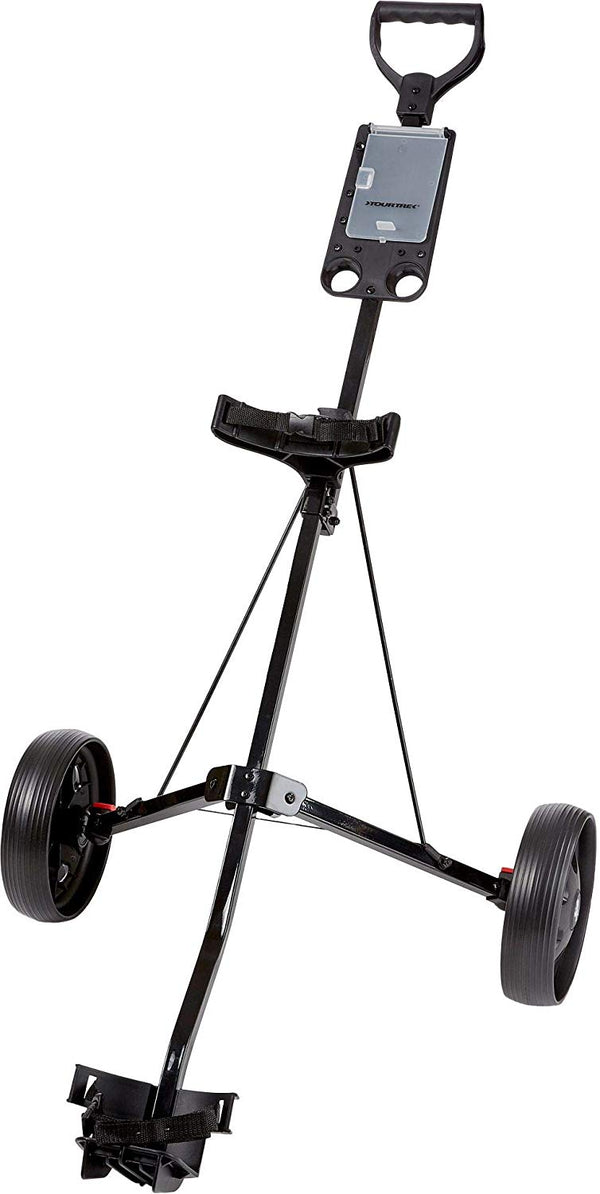 Tour Trek 2018 2-Wheel Push Cart,(Black,)