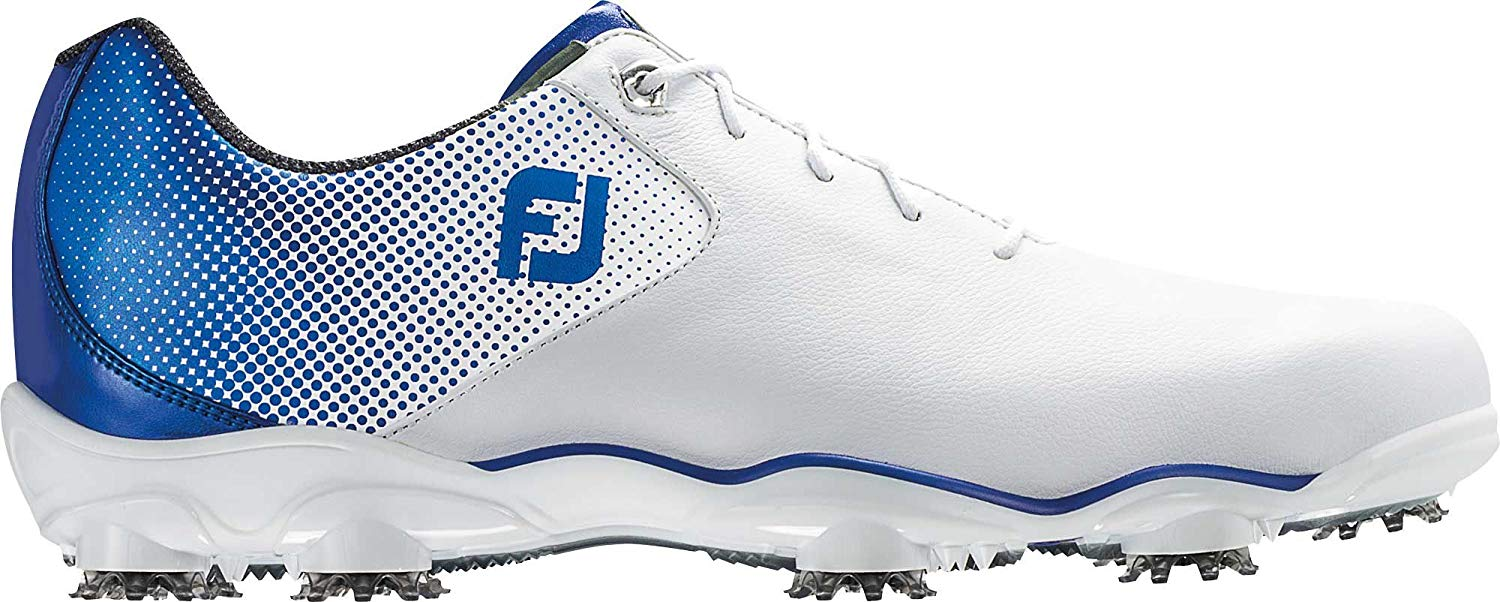 FootJoy D.N.A. Helix Golf Shoes (10, White/Blue)