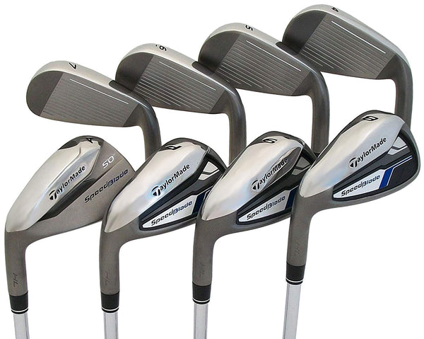 TaylorMade NEW Left Handed SpeedBlade HL 4-PW+AW Irons Steel Regular LH