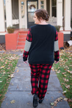 Load image into Gallery viewer, Buffalo Plaid To Be Here Top