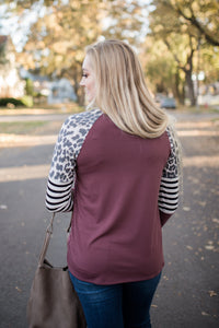Ahead Of The Curve Top In Mauve