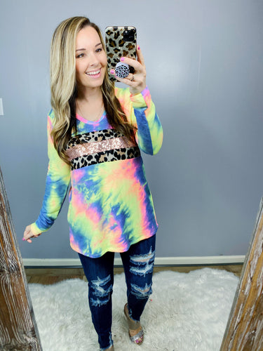 STEAL  Charcoal Burst Sequin Top