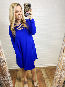Cage Neck Perfect Dress