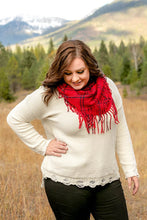 Load image into Gallery viewer, All Tied Up In You Infinity Scarf In Cardinal Red