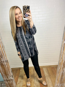 Black Paisley Tunic