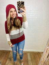 Load image into Gallery viewer, Burgundy Knitted Hoodie