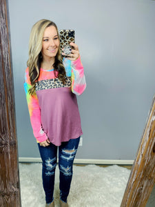 Mauve Unicorn Leopard Top