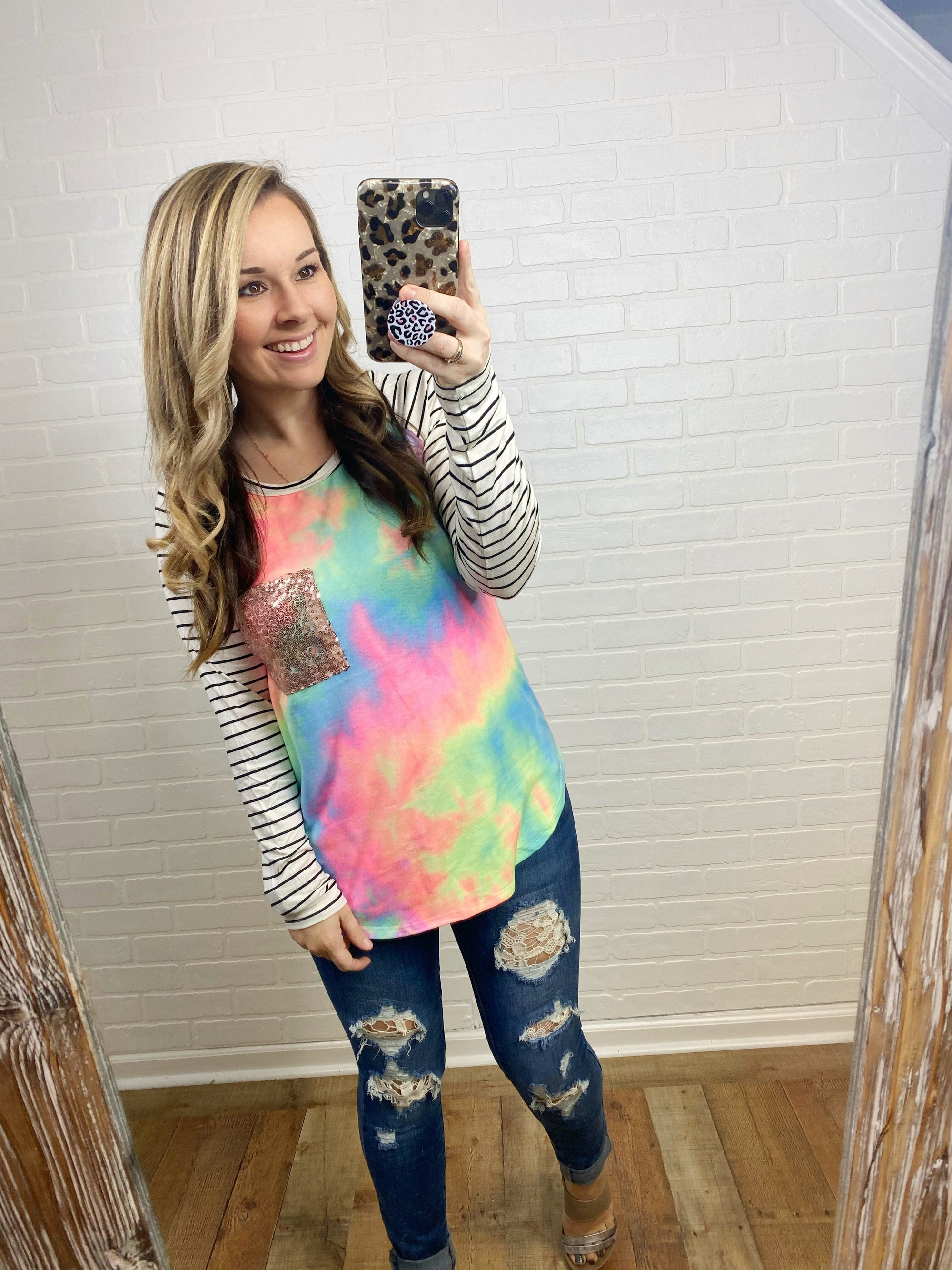 Unicorn Stripe Raglan