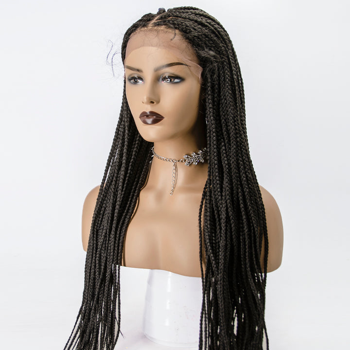 [Pre-Sale] 100% Hand Braided Medium Box Braids 13x5 Knotless Braided Lace Wig