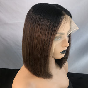 "[NEW IN]Celebrity Style 12"" Ombre Brown Straight Bob Wigs"