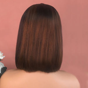 [NEW IN] #1B/8 Ombre Celebrity Style Lace Front Bob Wig