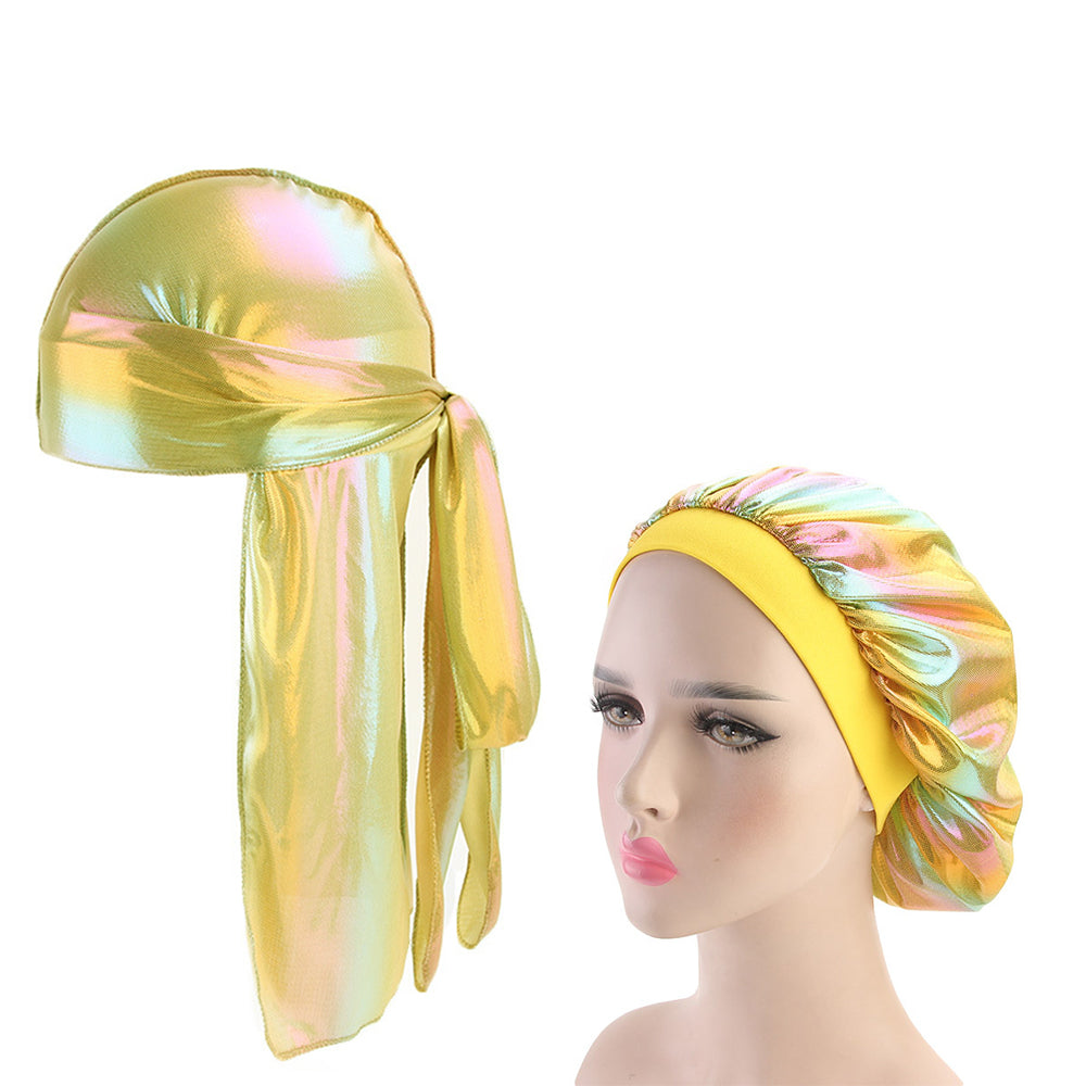 Long Silky Bonnet and Durag Set