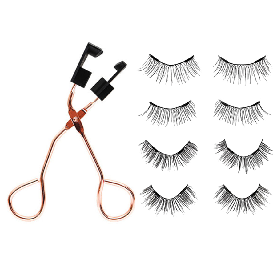 Premium Magnetic Clip with a Pair of 3D Magnets Reusable False Lashes