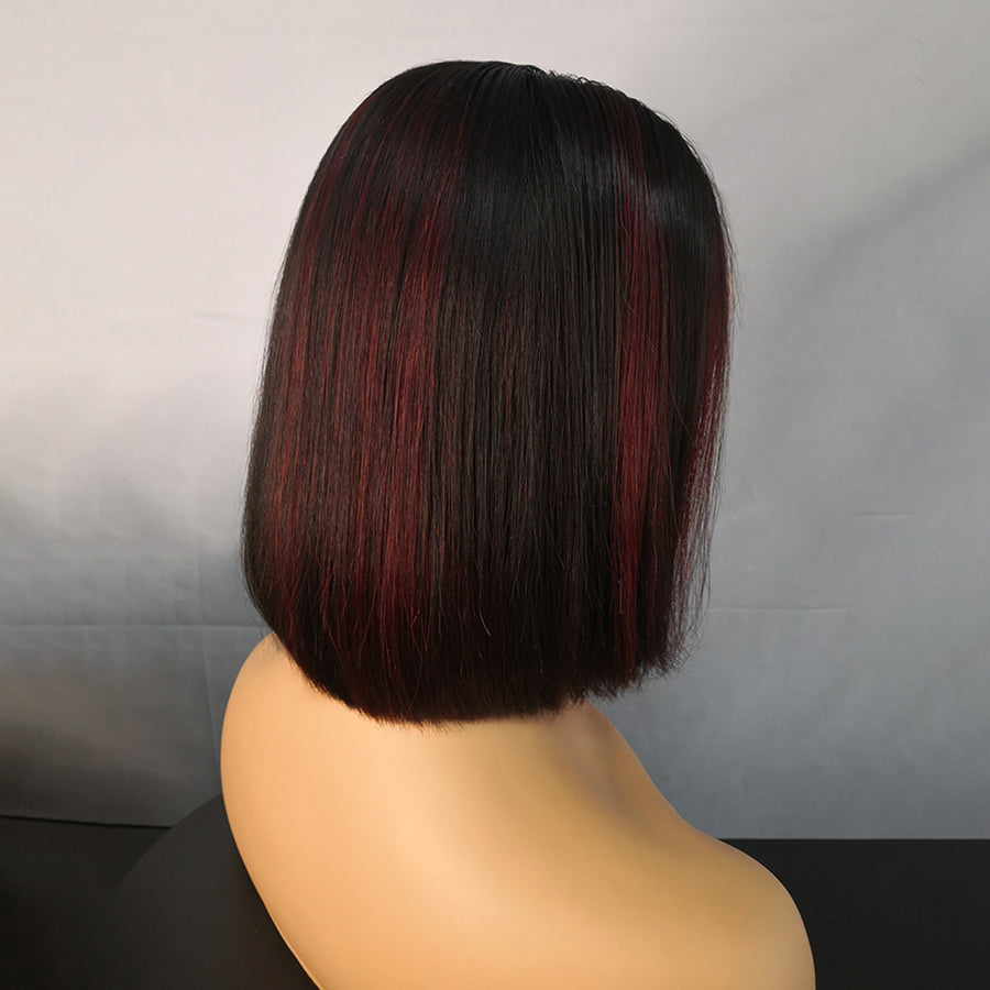 Celebrity Style Highlight Straight Lace Front Wig