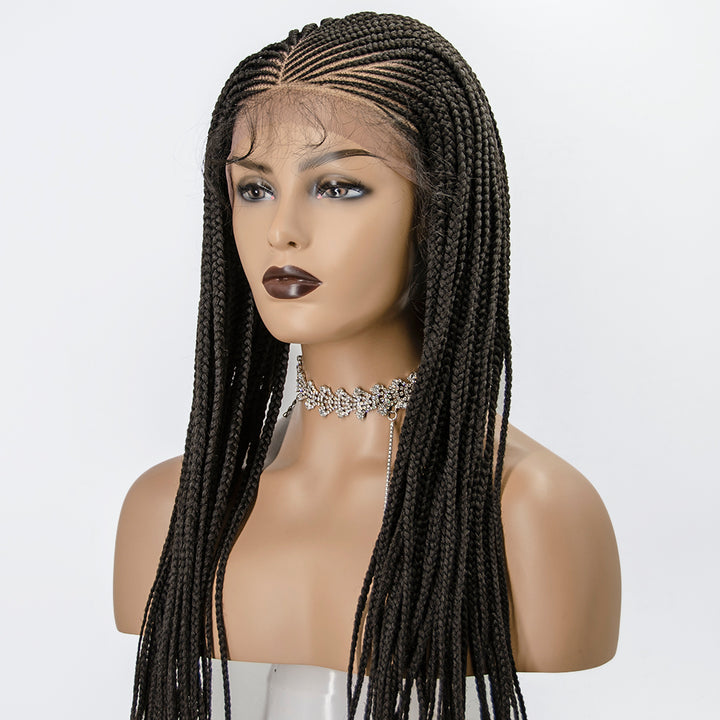[Pre-Sale] 100% Hand Braided Side Part Cornrow 13x5 Knotless Braided Lace Wig