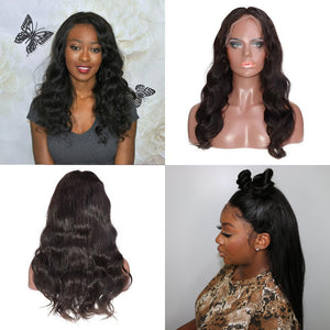 "13""x 6"" Pre-Plucked Straight Indian Remy Hair Lace Front Wigs"