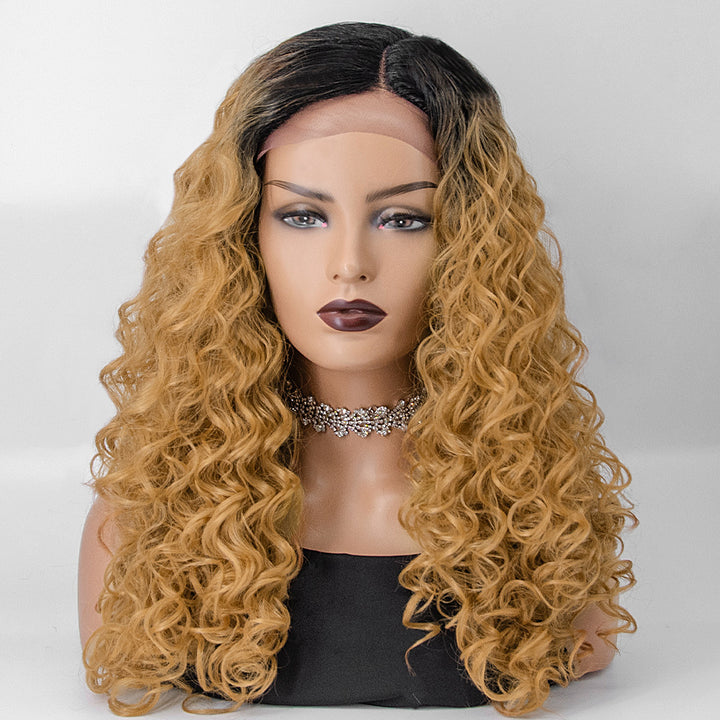 "[NEW IN]22"" 1B/27 Body Wavy Middle Part Synthetic Lace Front Wigs"