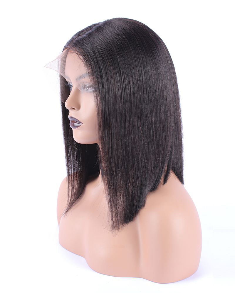 【NEW IN】Easiest Virgin Hair Straight Bob Lace Front Wigs