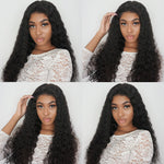 "13""x 6"" Pre-Plucked Middle Part Water Wavy Brazilian Virgin Hair Lace Front Wigs"