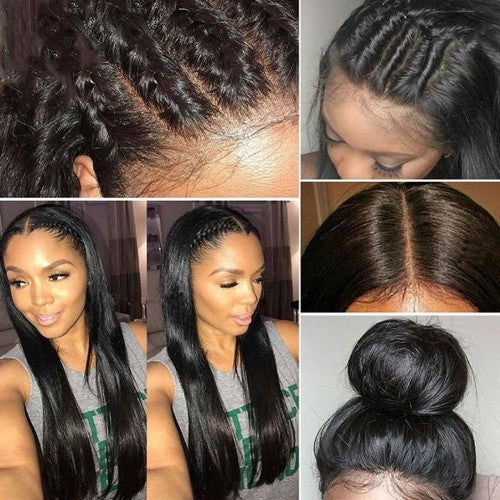 Pre-Plucked 360 Lace Frontal 22*4*2 Straight 7A Brazilian Virgin Hair