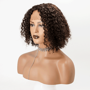 Fluffy Deep Curly Invisible T Part Lace Human Hair Wigs