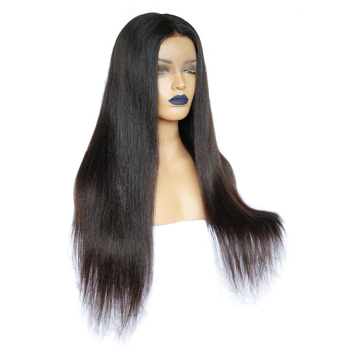 Easiest Transparent No Baby Hair Straight Lace Front Wig