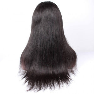360 Lace Frontal Wig 180% Density Silky Straight Brazilian Virgin Hair