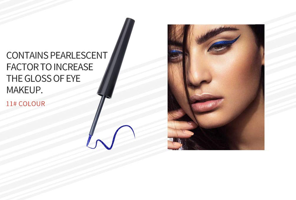 Matte Liquid Eyeliner [16 Colors] Long Lasting Waterproof High Pigmented Eyeliner Professional Colorful Eyeliner Pen Set