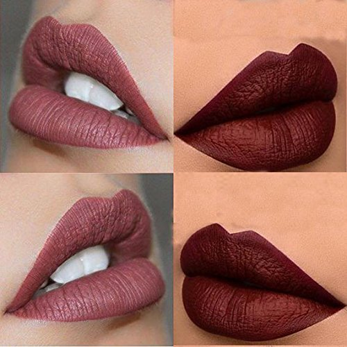 3PCS of 3 Colors Madly MATTE Lipstick Non-stick Cup Waterproof Lipgloss-Set A
