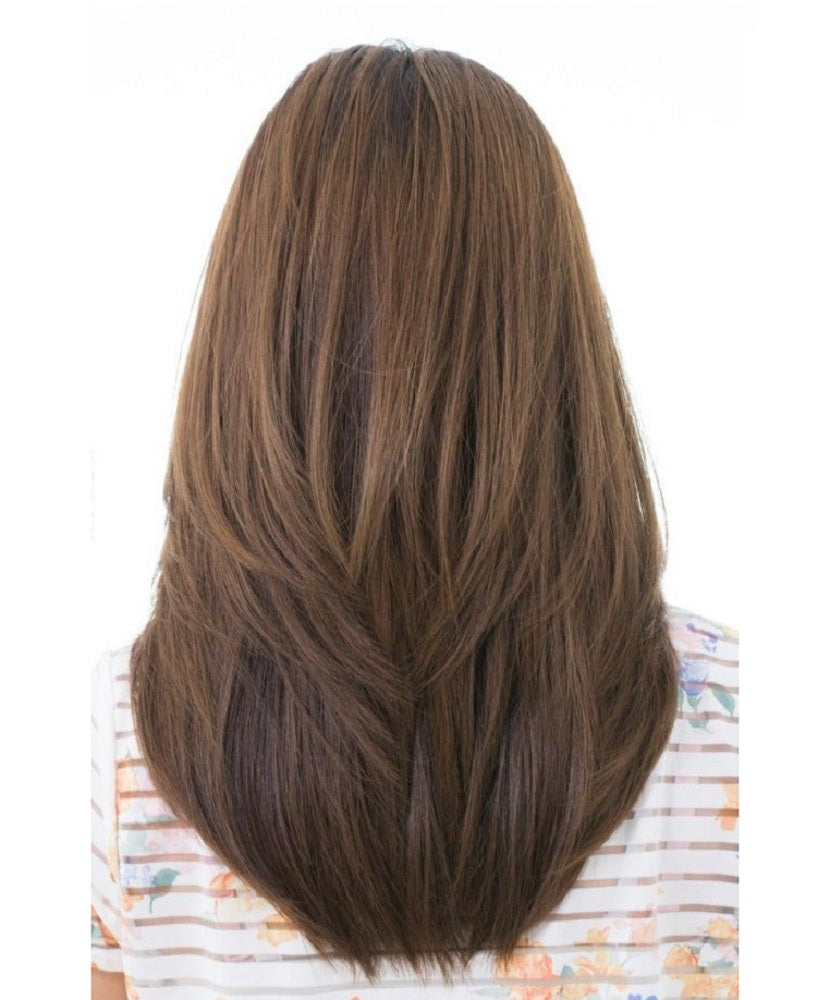 #4 Medium Brown Straight Clip Tape Hair Extensions